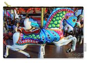 Carousel Horse With Sea Motif Carry-all Pouch