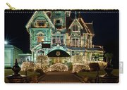 Carson Mansion At Christmas With Moon Carry-all Pouch