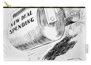 Cartoon: New Deal, 1936 Carry-all Pouch