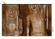 Carved American Indians Carry-all Pouch