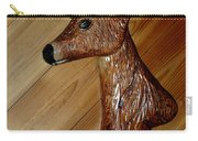 Carved Doe Deer Carry-all Pouch