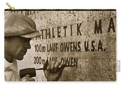 Carving The Name Of Jesse Owens Into The Champions Plinth At The 1936 Summer Olympics In Berlin Carry-all Pouch by American School