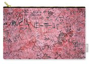 Carvings On Wall Carry-all Pouch by Carlos Caetano