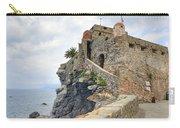 Castello Della Dragonara In Camogli Carry-all Pouch by Joana Kruse