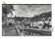 Castle Combe England Monochrome Carry-all Pouch