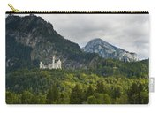 Castle Neuschwanstein With Alps In The Background Carry-all Pouch
