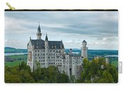 Castle Neuschwanstein With Surrounding Landscape Carry-all Pouch