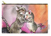 Cat And Mouse Reunited Carry-all Pouch