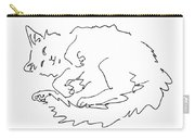 Cat-drawings-black-white-1 Carry-all Pouch