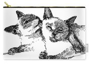 Cat-drawings-siamese-2 Carry-all Pouch