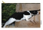 Cat Looking Thru The Knot Hole Carry-all Pouch