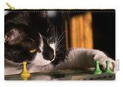 Cat Playing A Game Carry-all Pouch