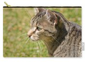 Cat Portrait On A Green Lawn Carry-all Pouch