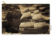 Catastrophic Collision-sepia Carry-all Pouch by Lourry Legarde