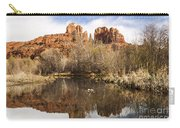 Cathedral Rock Reflections Landscape Carry-all Pouch by Darcy Michaelchuk