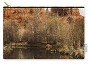 Cathedral Rock Reflections Portrait 1 Carry-all Pouch by Darcy Michaelchuk