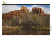 Cathedral Rock Reflections Portrait 2 Carry-all Pouch by Darcy Michaelchuk