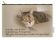 Cats Protecting You From Gnomes - Lily The Cat Carry-all Pouch