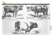 Cattle Breeds, 1856 Carry-all Pouch by Granger