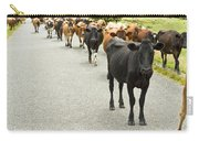 Cattle Drive On A Road  Carry-all Pouch