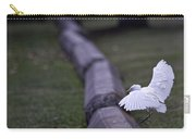 Cattle Egret Landing Carry-all Pouch