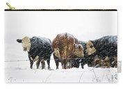 Cattle In A Snowstorm In Southwest Michigan Carry-all Pouch