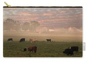 Cattle In The Fog Carry-all Pouch