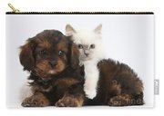 Cavapoo Pup And Blue-point Kitten Carry-all Pouch