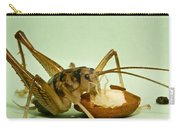 Cave Cricket Eating An Almond 2 Carry-all Pouch