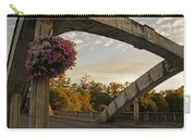 Caveman Bridge Arch And Flowers Carry-all Pouch