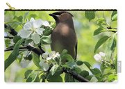 Cedar Waxwing Among Apple Blossoms Carry-all Pouch