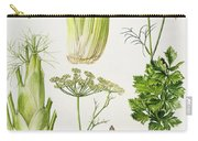Celery - Fennel - Dill And Celeriac  Carry-all Pouch by Elizabeth Rice