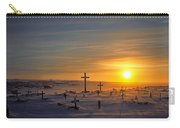 Cemetary In Winter, Igloolik, Nunavut Carry-all Pouch