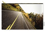 Center Lines Along A Paved Road In Autumn Carry-all Pouch