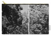 Central Park Flag In Black And White Carry-all Pouch