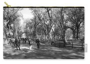 Central Park Mall In Black And White Carry-all Pouch