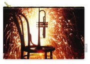 Chair And Horn With Fireworks Carry-all Pouch