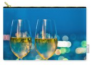 Champagne Glasses In Front Of A Window Carry-all Pouch