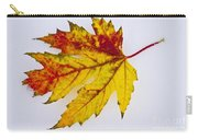 Changing Autumn Leaf In The Snow Carry-all Pouch