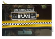 Checker Taxi Cab Duty Sign 2 Carry-all Pouch