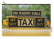 Checker Taxi Cab Duty Sign Carry-all Pouch