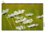 Cheerful Daisy Wildflowers Blowing In The Wind Carry-all Pouch