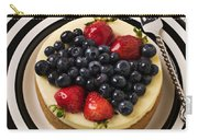 Cheese Cake On Black And White Plate Carry-all Pouch