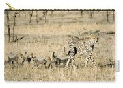 Cheetah Mother And Cubs Carry-all Pouch