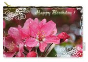 Cherry Blossoms Greeting Card  Bi Carry-all Pouch