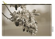 Cherry Blossoms Sepia Carry-all Pouch