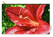 Cherry Red Lily Carry-all Pouch