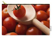 Cherry Tomatoes And Wooden Spoon Carry-all Pouch