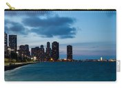 Chicago Skyline And Navy Pier At Dusk Carry-all Pouch