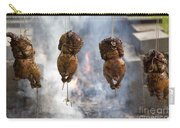 Chickens Roasting On Open Pit Fire Carry-all Pouch